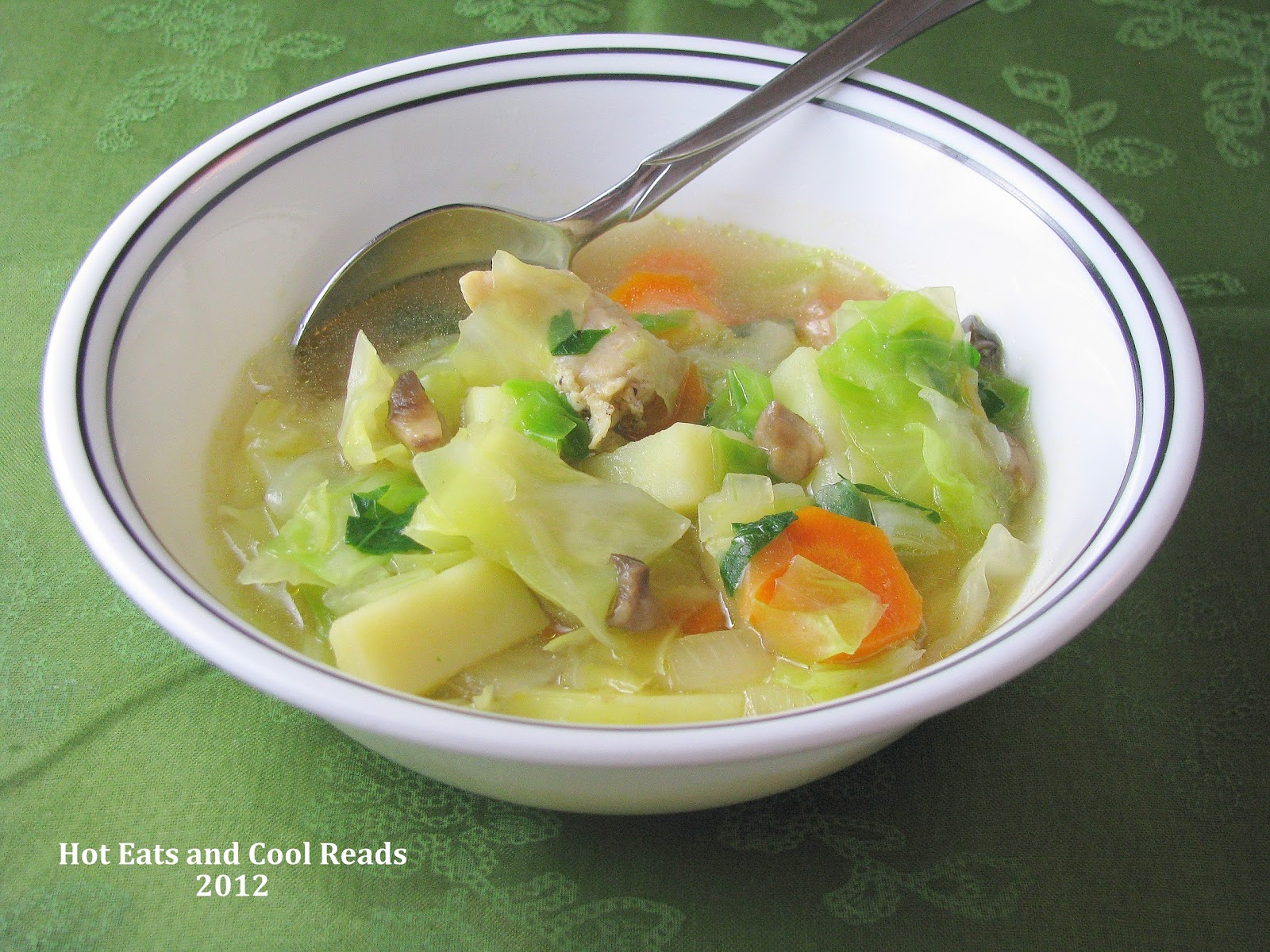 Hot eats and cool reads chicken and cabbage soup recipe chicken and cabbage soup recipe forumfinder Image collections