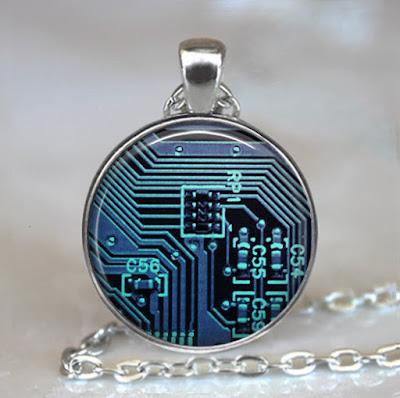 Computer Circuit Board Pendant