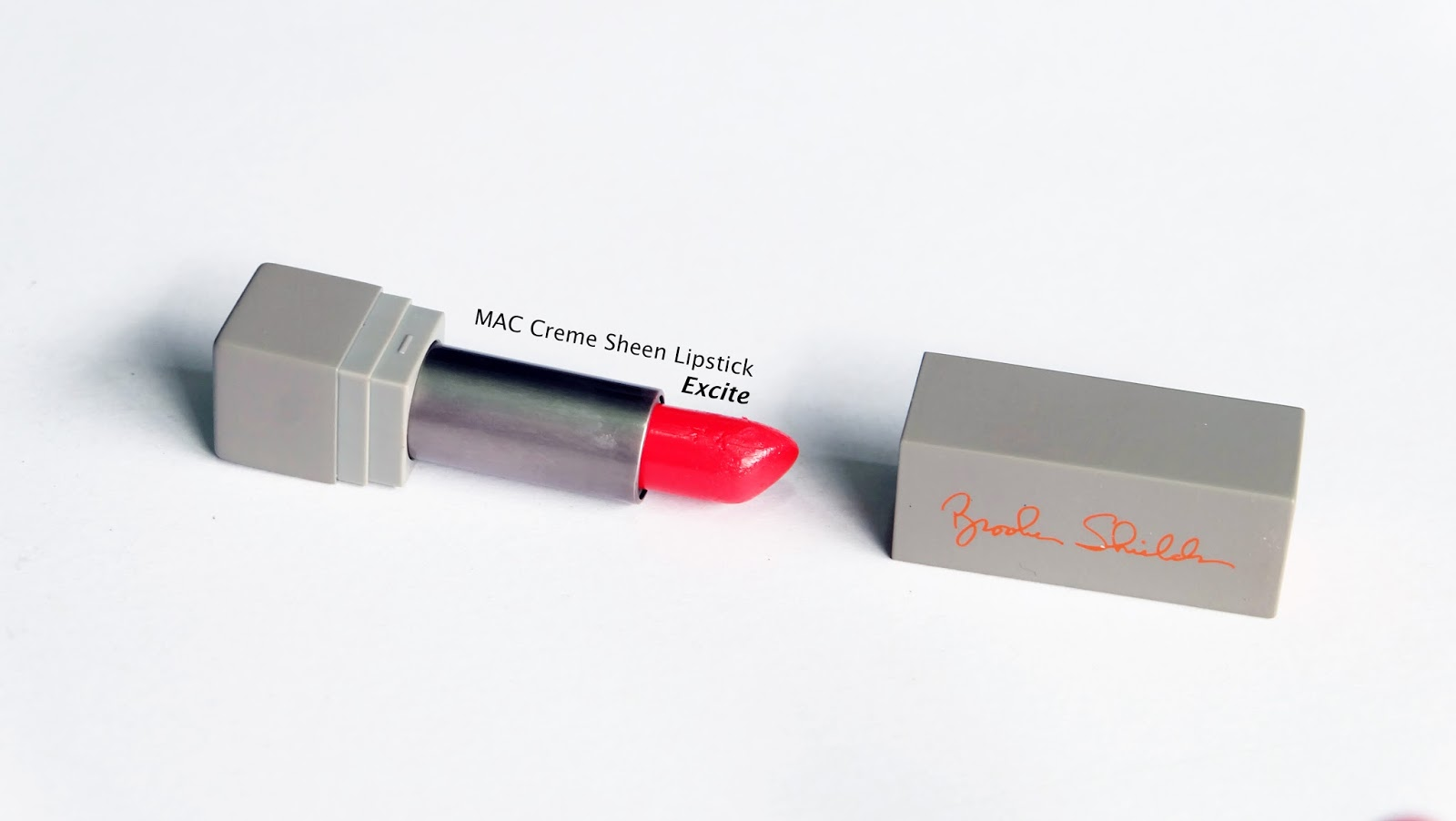 Best Orange Lipsticks swatches product review MAC Brooke Shields Excite