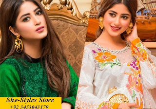 Qalamkar Luxury Festive Lawn Collection'17
