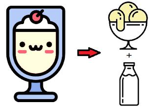 milkshake em casa