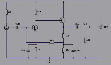 Circuit Condenser Mic Pre-Amp ~ World Electricity
