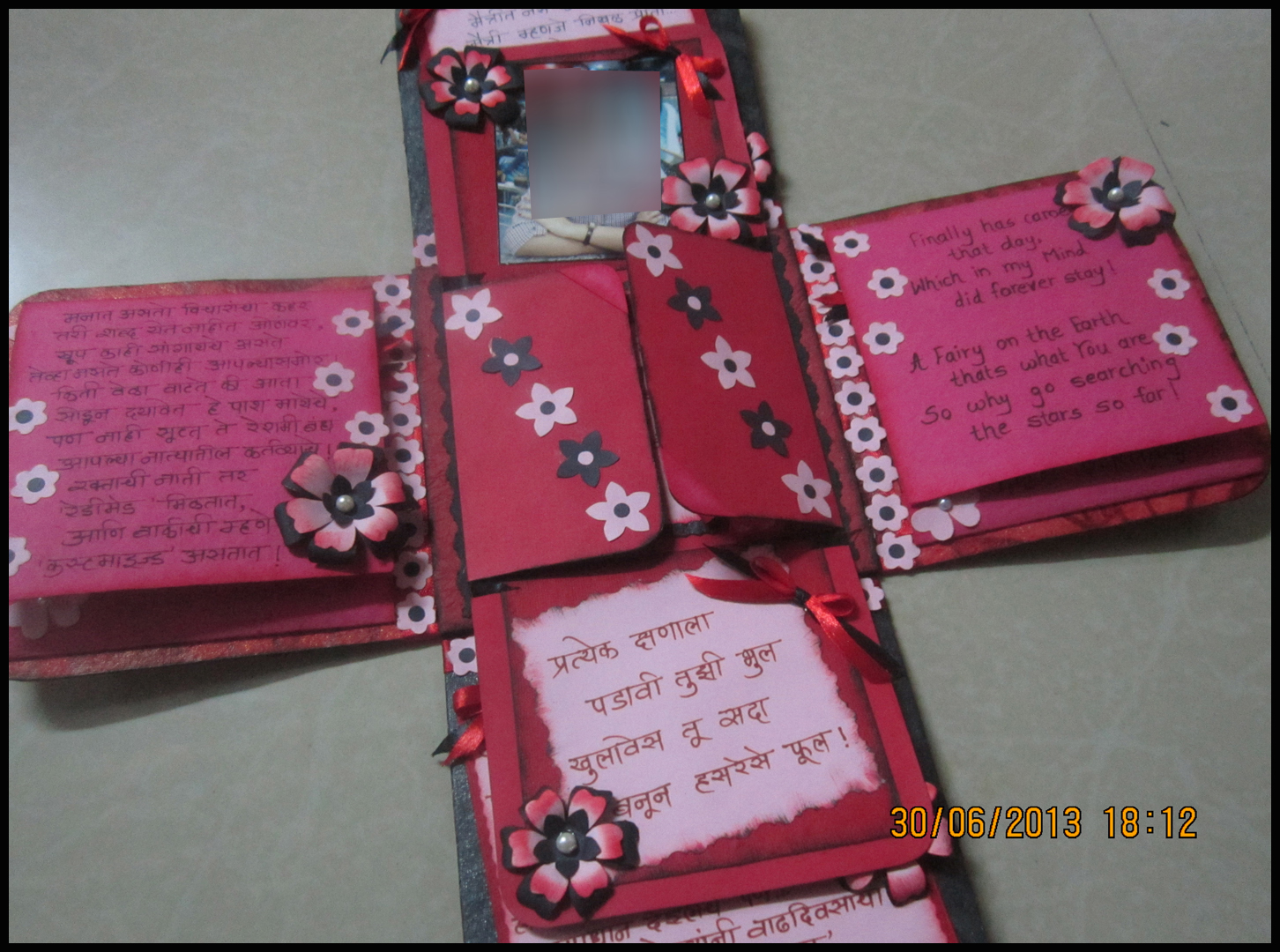 Lina's Handmade Cards I Have Made First Exploding Box Card