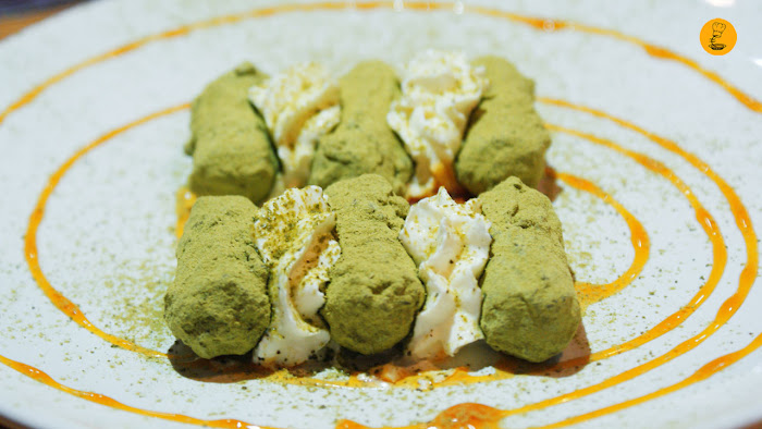 Trufas de té verde en restaurante Maru Madrid