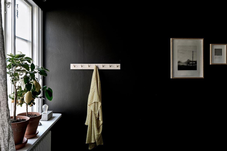 dormitorio, habitacion, negra, negro, dormitorio oscuro, lampara, cemento, estilo nordico, decoracion nordica