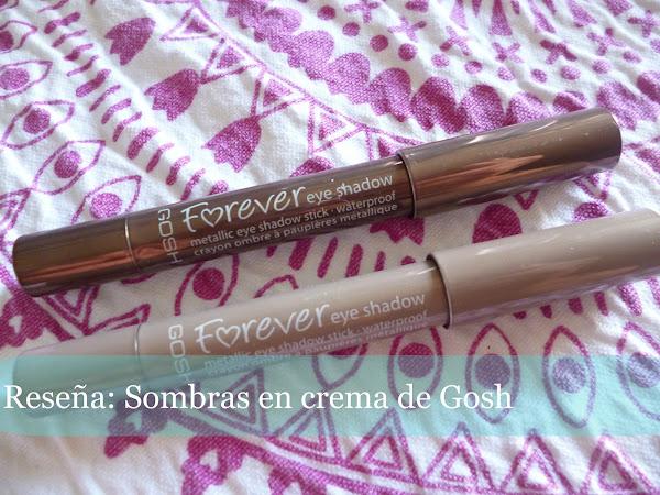 Reseña: Sombras en crema Forever de Gosh Cosmetics