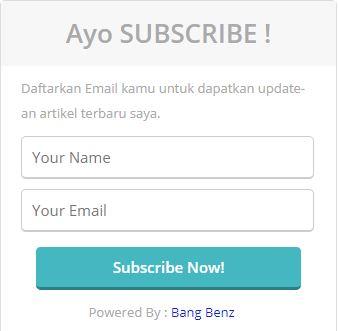 Widget Berlangganan Artikel
