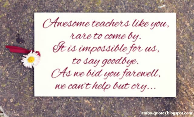 thank you teacher messages farewell goodbye quotes for teacher