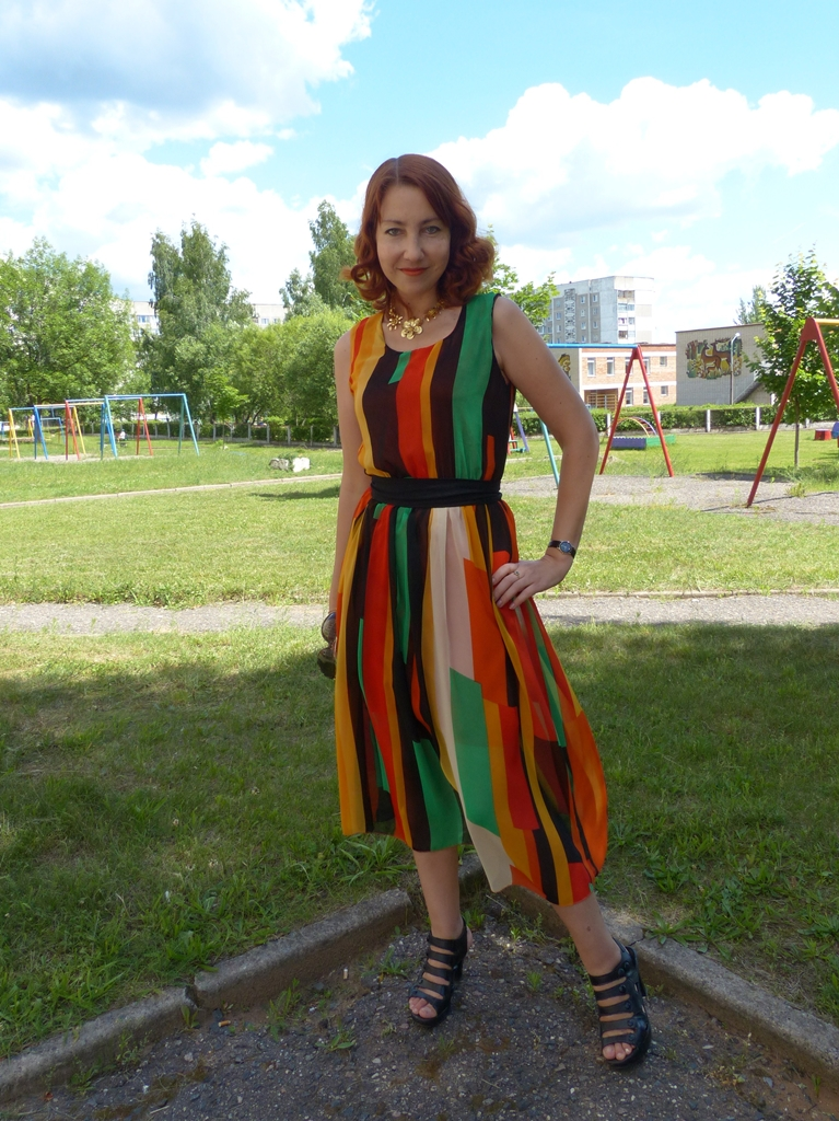 Local Fashion: Stripy Rainbow Dress