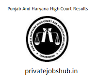 Punjab & Haryana High Court Results