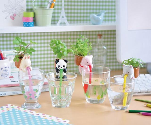 Green Pear Diaries, diseño, macetas originales, mini macetas de animales