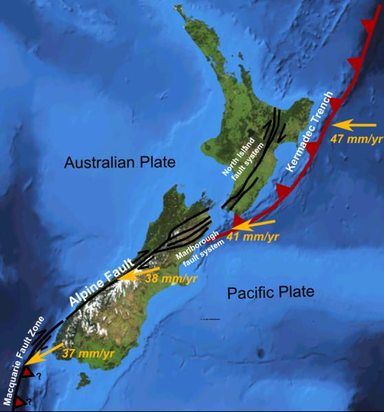 Jordbävningar här på Nya Zeeland