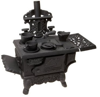 Old Mountain 10126 Black Mini Wood Cook Stove Set