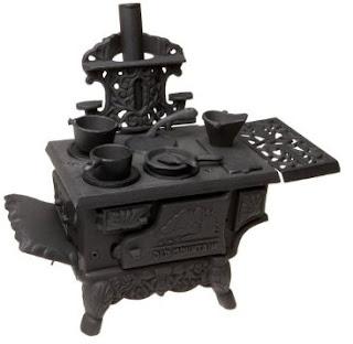 Old Mountain 10126 Black Mini Wood Cook Stove Set