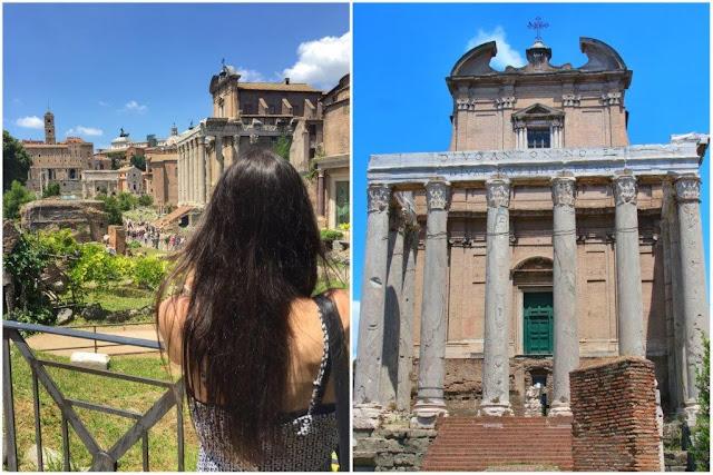 PaellaChips en el Foro Romano en Roma