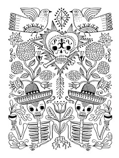 Mandala day of the dead coloring pages