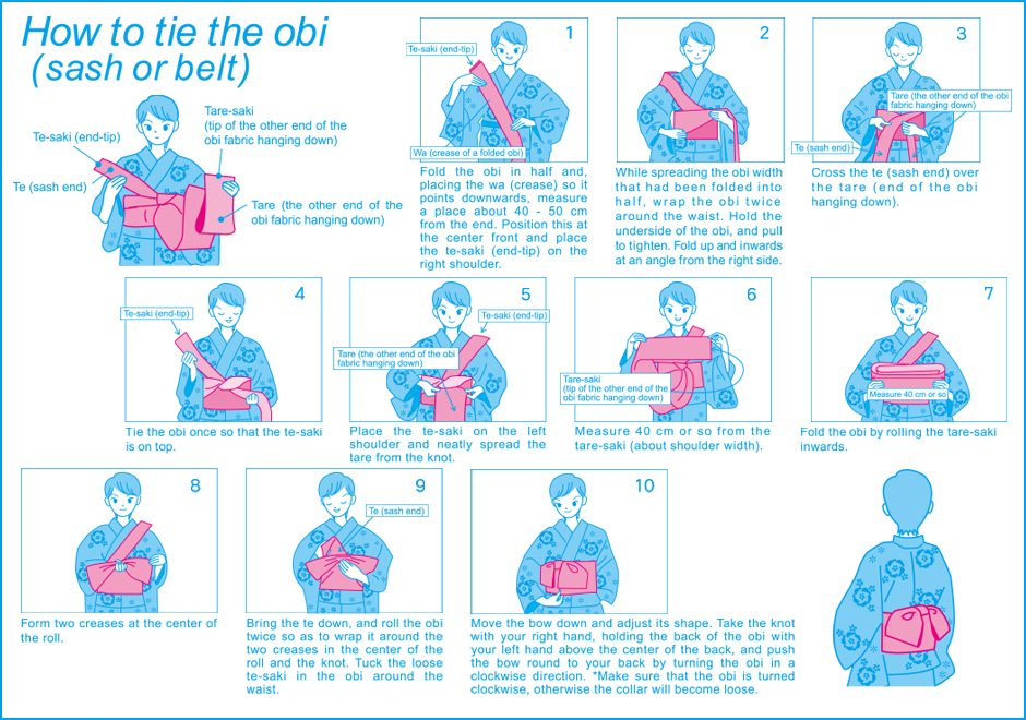 how to tie the obi
