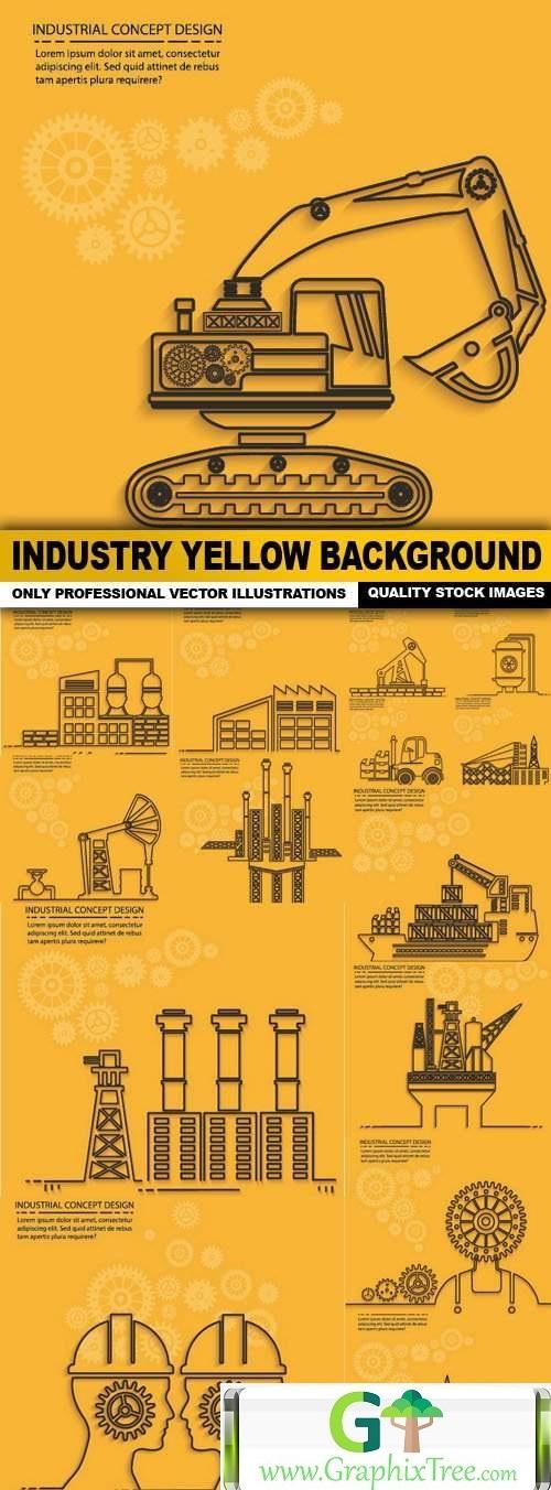 Industry Yellow Background - 15 Vector