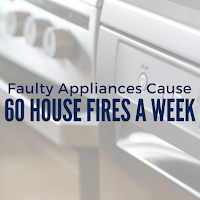 Faulty Appliances Cause 60 House Fires a Week