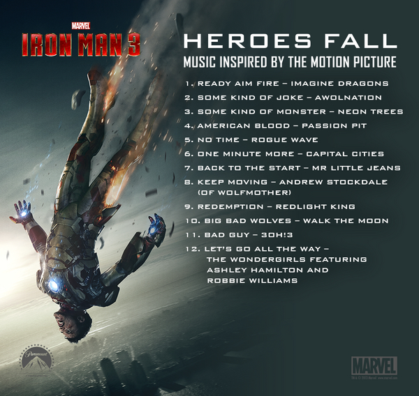 Iron man 3 theme sheet music for piano download free in pdf or midi.