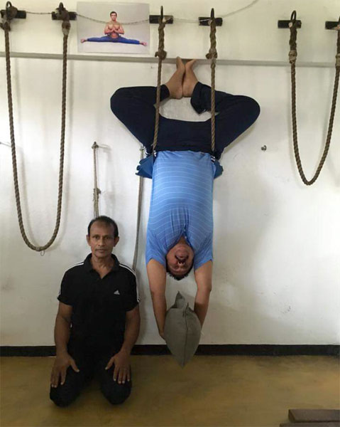 Prison Yoga Is Helping Inmates Transcend Their Cells: Our Lanka: Namal Posted Yoga Picture Without My Permission