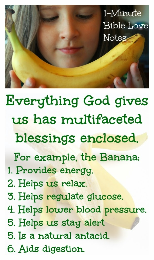 benefits of bananas, God's multifaceted blessings