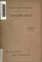 Cæsar's Wife, 1922 Heinemann - W. Somerset Maugham