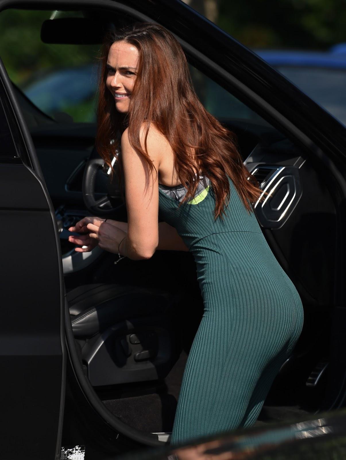 Jennifer Metcalfe Wearing a tight sheer bodysuit