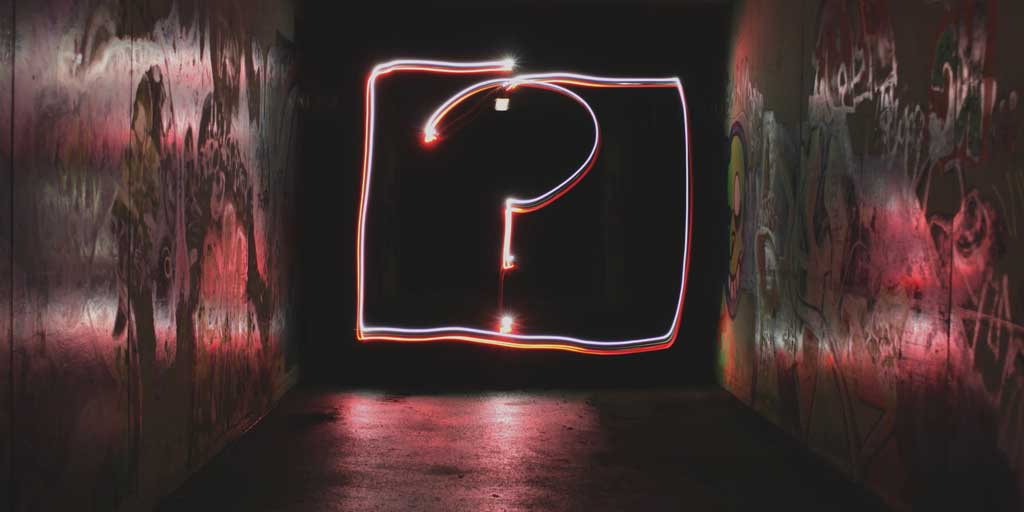 Finding Your Why - Question Mark in Tunnel
