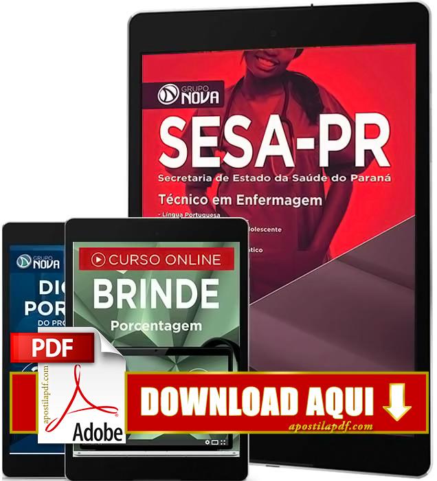 Apostila SESA PR 2016 PDF Download Técnico de Enfermagem