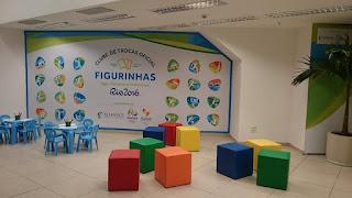 Pátio Alcântara terá ponto oficial de troca de figurinhas do álbum dos Jogos Olímpicos e Paralímpicos Rio 2016