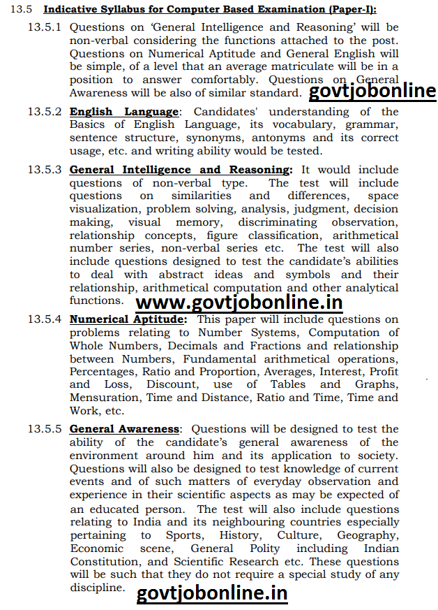 SSC MTS Tier 1 Exam Pattern and Syllabus-SSC Multi Tasking Staff Tier 2 Descriptive Type Exam Syllabus Pattern-Admit Card