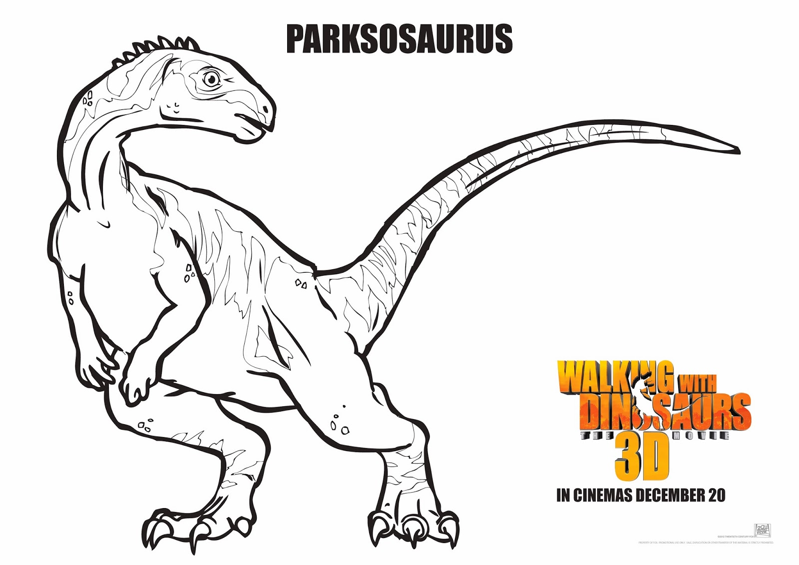 walking with dinosaurs coloring pages - photo #20
