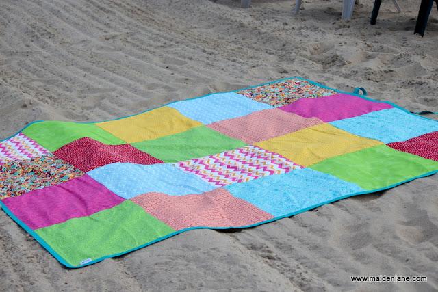 Oversized Beach Blanket and Bag