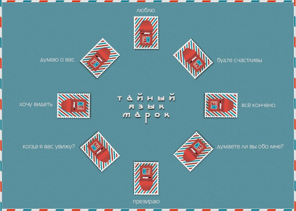 Для, открытка язык марок