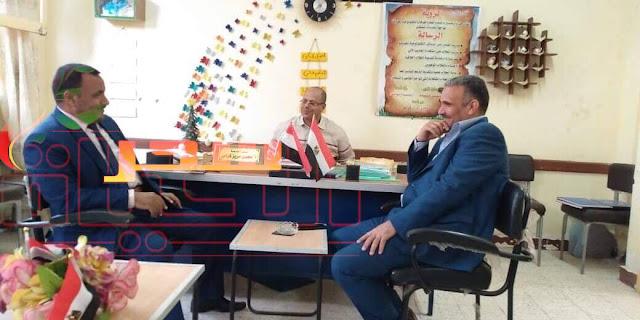 الأستاذ خلاف إبراهيم يتابع جودة المدارس بسوهاج