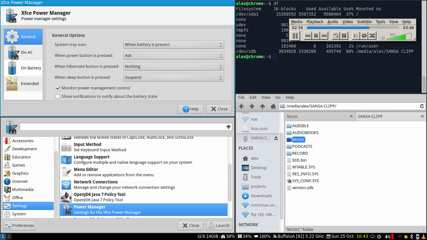 Alex's blog: Using the i3 tiling window manager with XFCE
