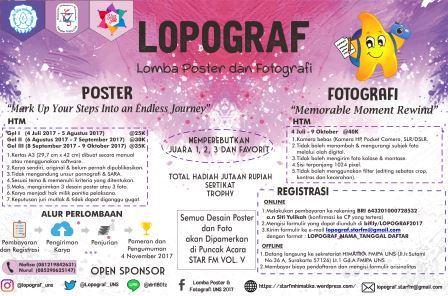 Lomba Poster Dan Fotografi LOPOGRAF 2017 | Univ. Sebelas Maret | Umum