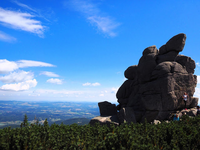 česko-polská cesta přátelství, Polední kámen, Krkonoše, Sněžka, procházka, příroda