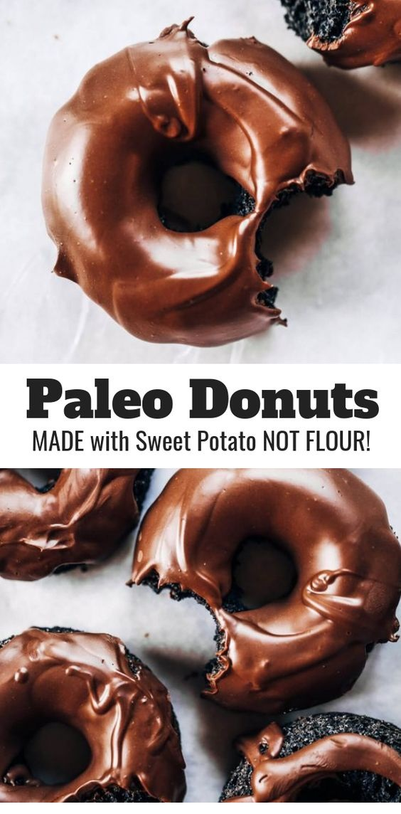 Healthy Chocolate Donuts Made With Sweet Potato