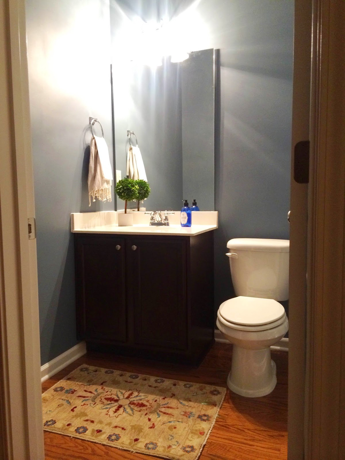 We Originally Wanted To Put This Faux Bamboo In The Bathroom And Still Might But It Didn T Fit Between Console Light