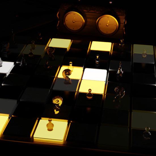 Chessboard Lightshow Wallpaper Engine