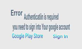 Cara mengatasi akun google di play store error