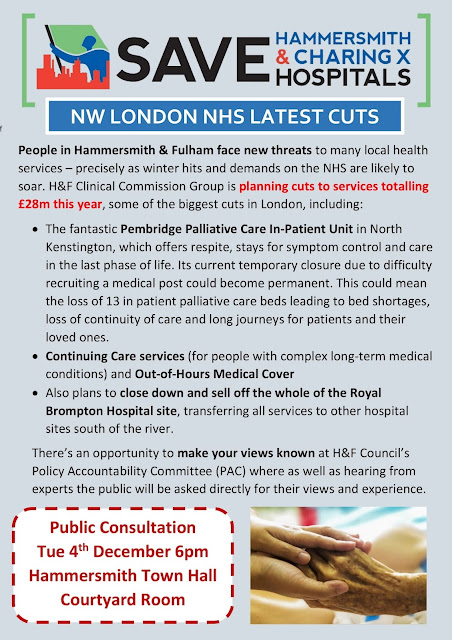 NW LONDON NHS LATEST CUTS