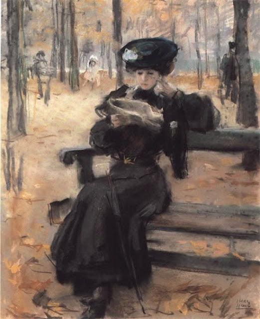 Isaac Israels Читающая дама