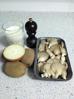 Ingredientes pastel de setas y patatas