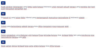 Contoh Soal Nasionalisme Indonesia