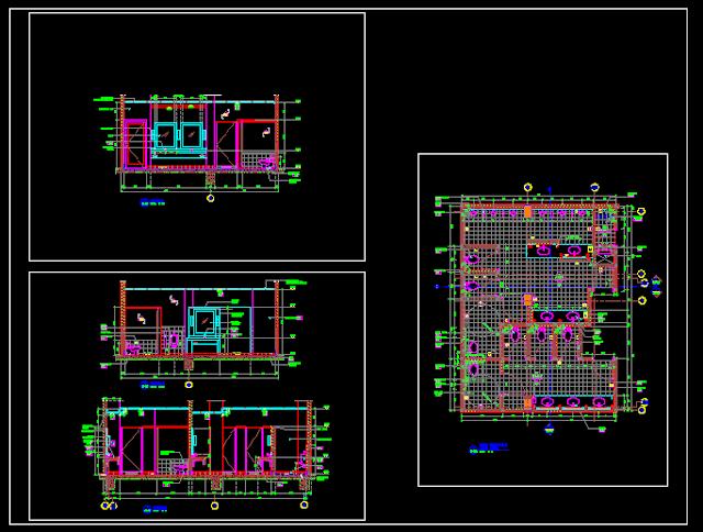 Gambar Kerja Detail dan Potongan Toilet Umum Mall