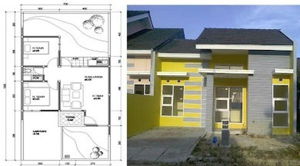 99 Contoh Denah Rumah Type 45 Minimalis Modern Lengkap Dengan Gambar
