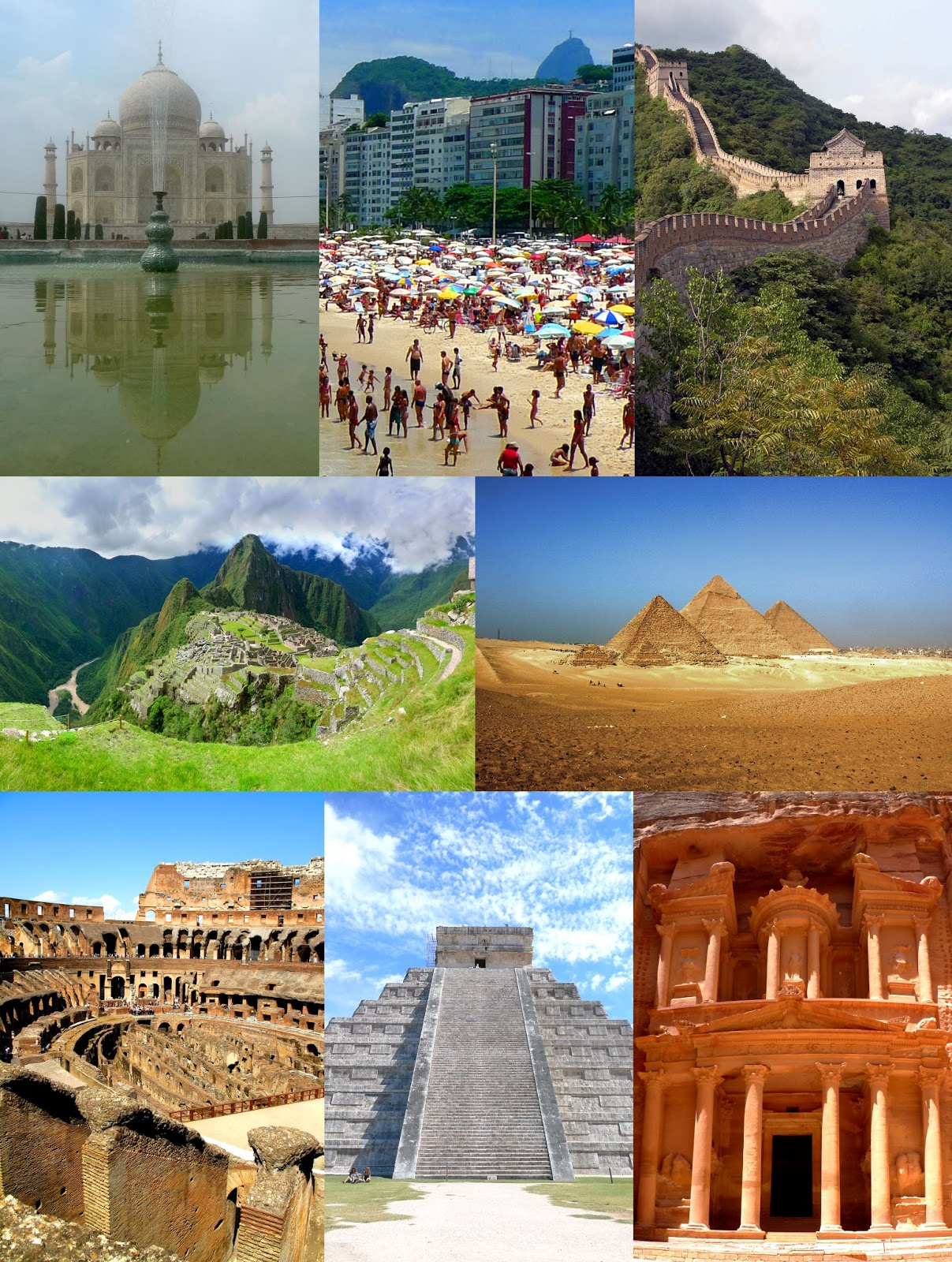 the seven wonders of the world - HD 1207×1600